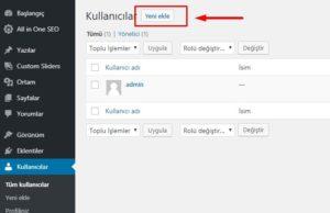 WordPress - Üye Ekleme