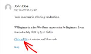 WordPress Yorum Düzenleme