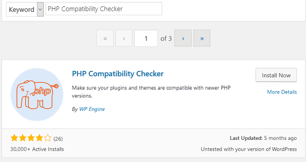 PHP Compatibility Checker WordPress Eklentisi
