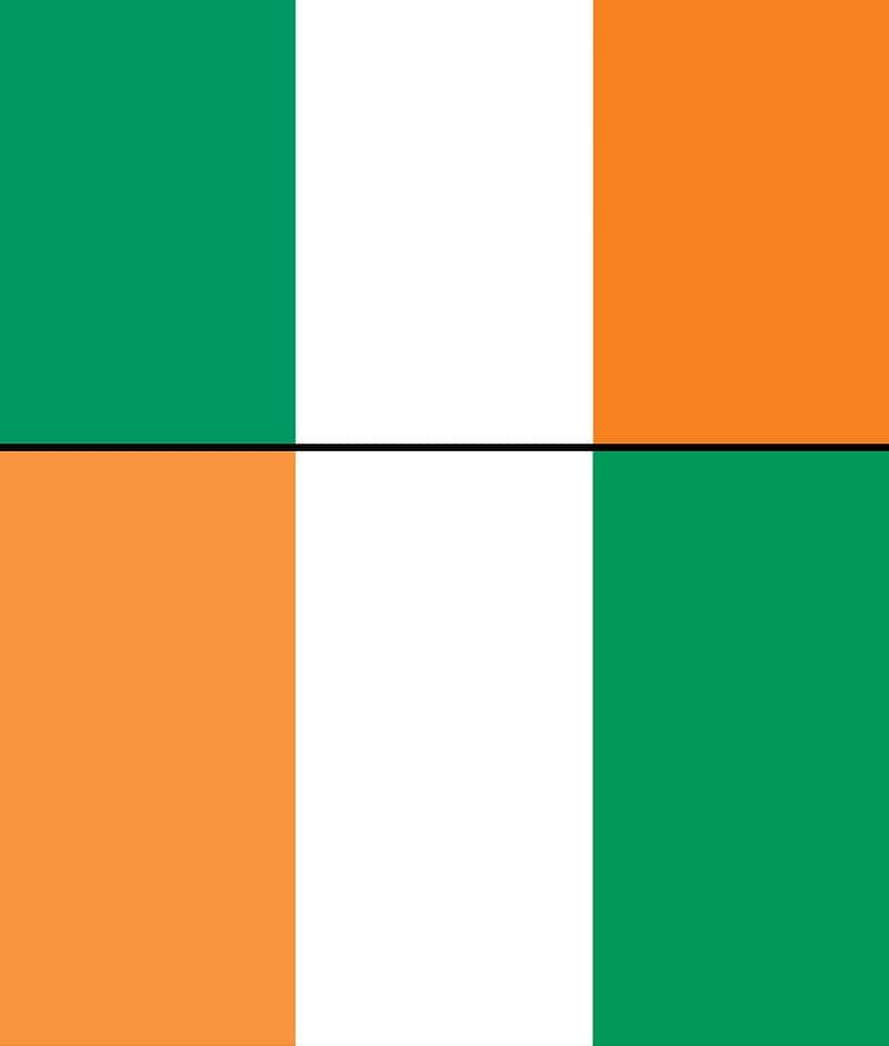 İrlanda Bayrağı - Fildişi Sahili Bayrağı